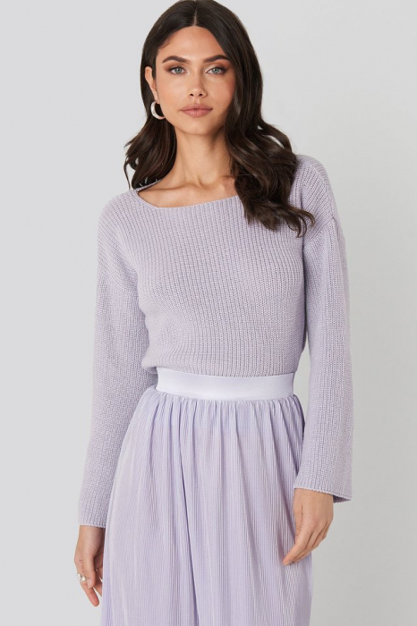 Pulover Cropped Sleeve Knitted 0