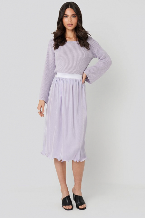 Pulover Cropped Sleeve Knitted 2