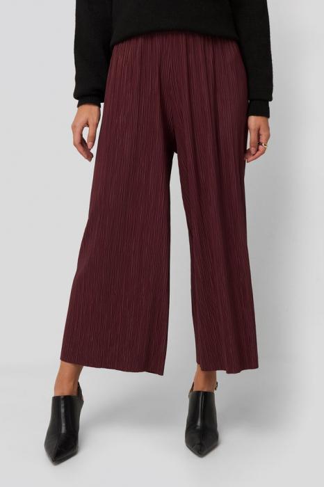 Pantaloni Cropped Plisse Culottes 1
