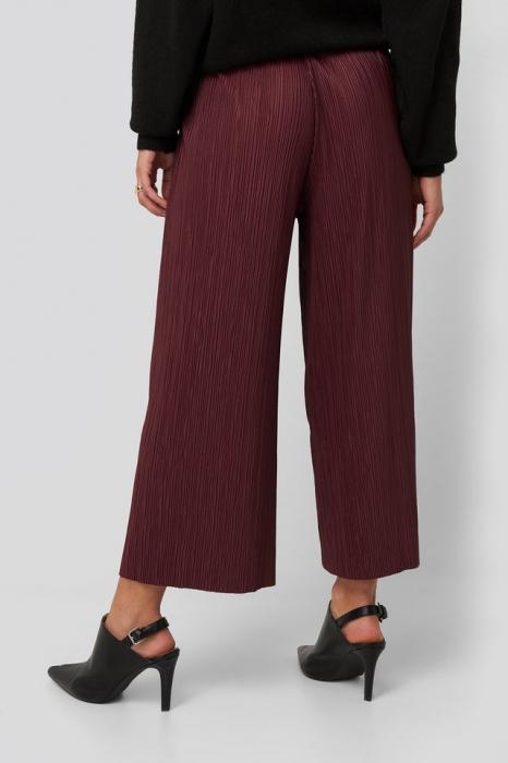Pantaloni Cropped Plisse Culottes [2]