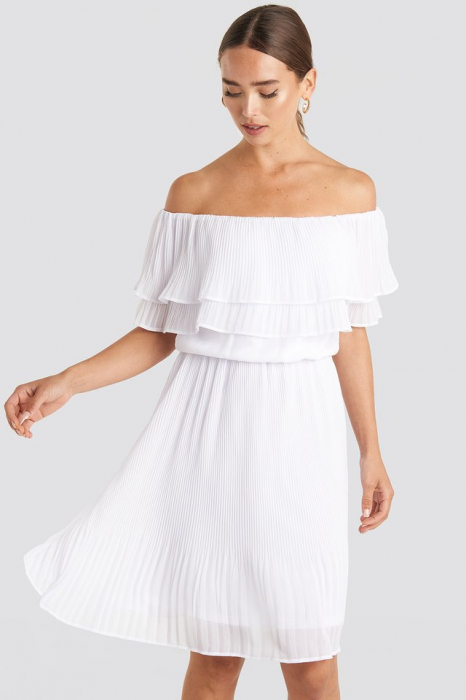 Rochie Double Tier Off Shoulder 0