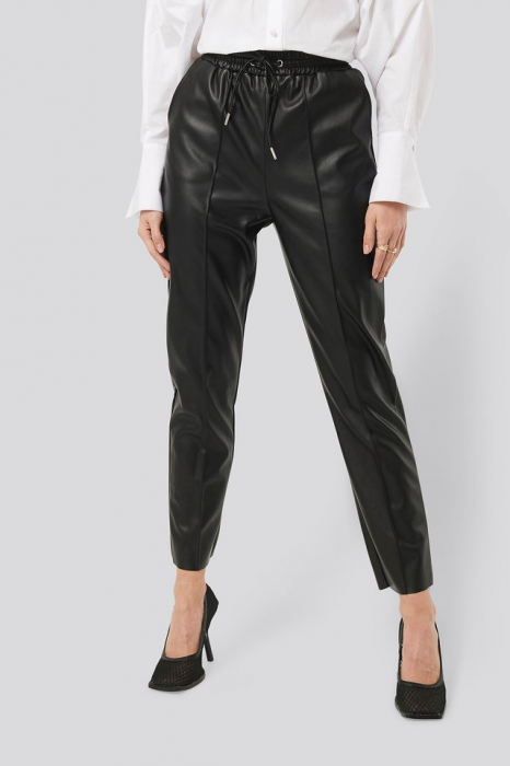 Pantaloni Drawstring PU Seam Detail 2