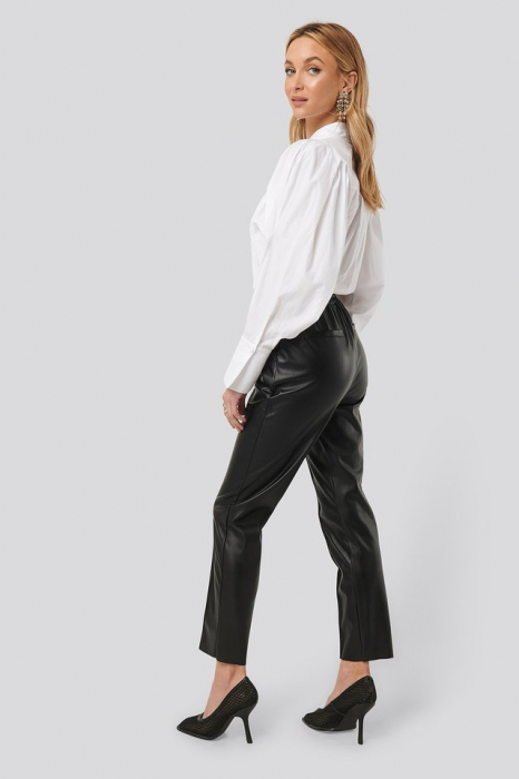 Pantaloni Drawstring PU Seam Detail 3