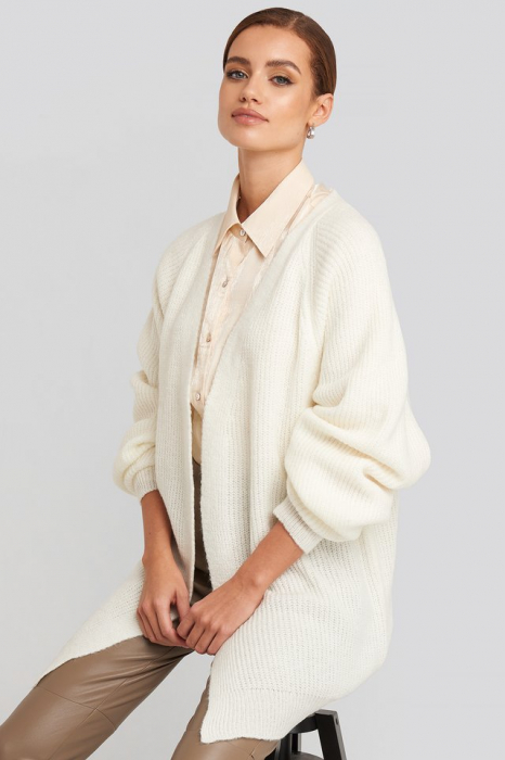 Dropped Shoulder Knitted Cardigan 1