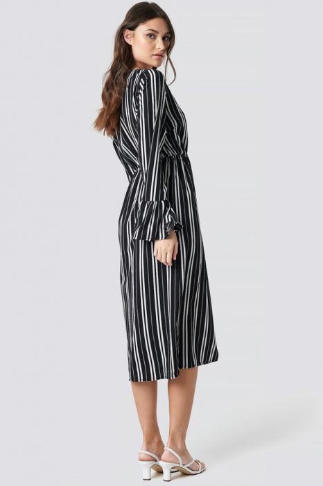 Elastic Waist Flute Sleeve Dress 1