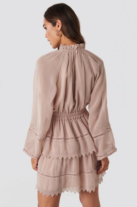 Embroidery Mini Dress 1