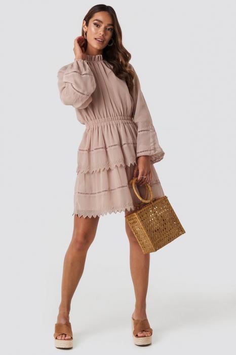 Embroidery Mini Dress 2