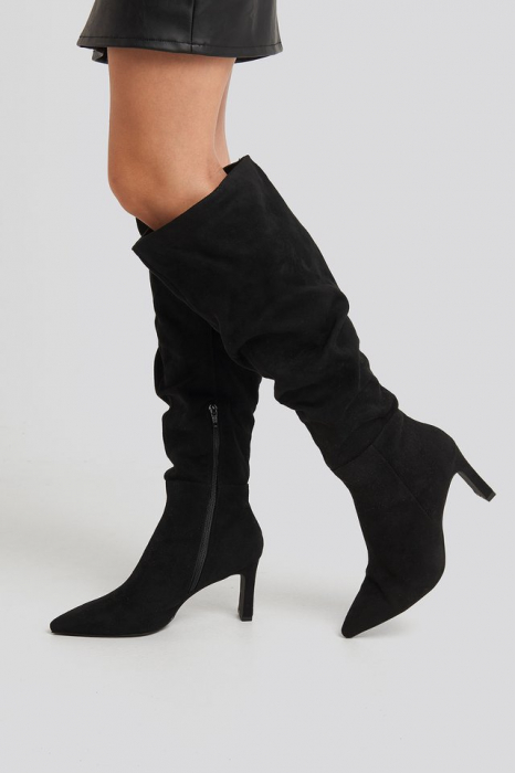 Cizme Faux Suede Loose Shaft Boots [3]