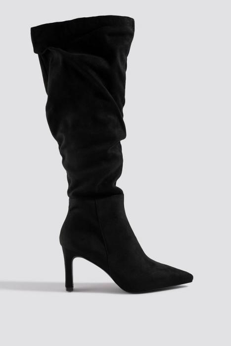 Cizme Faux Suede Loose Shaft Boots [0]
