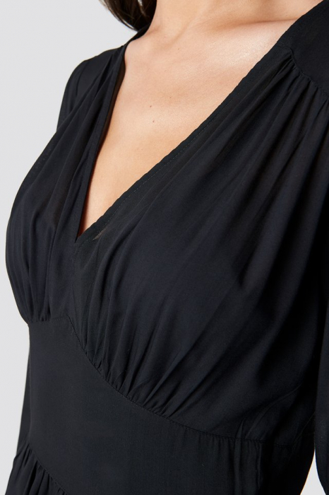 Rochie Fitted Waist Frill Detail 1
