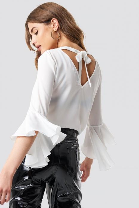 Bluza Flounced Sleeve V-Neck [1]
