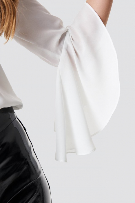 Bluza Flounced Sleeve V-Neck [2]