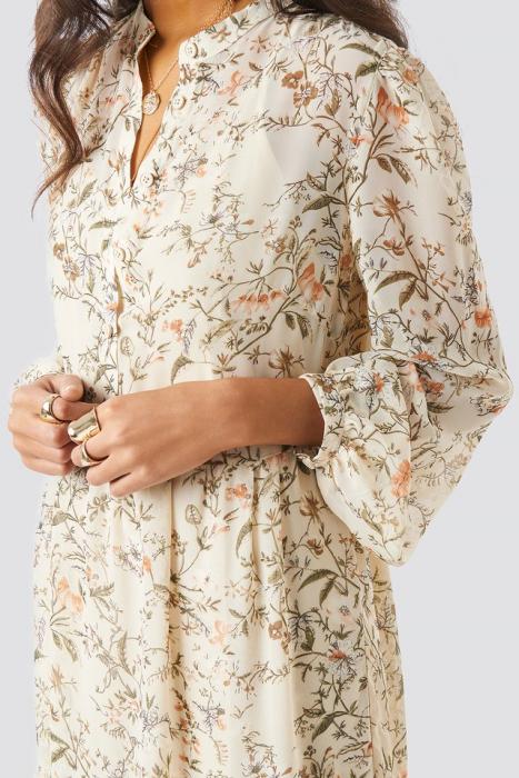 Flower Print Tiered Midi Dress 2