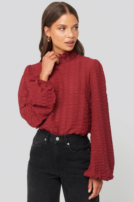 Bluza Frill Neck Structured Blouse 0