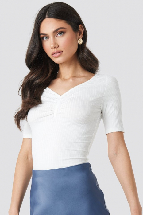 Bluza Front Ruched Short Sleeve [0]