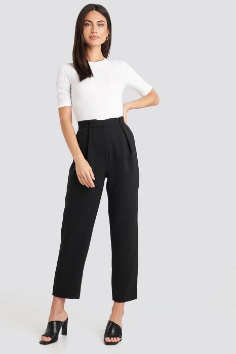 Pantaloni Gathered Waist Suit 0