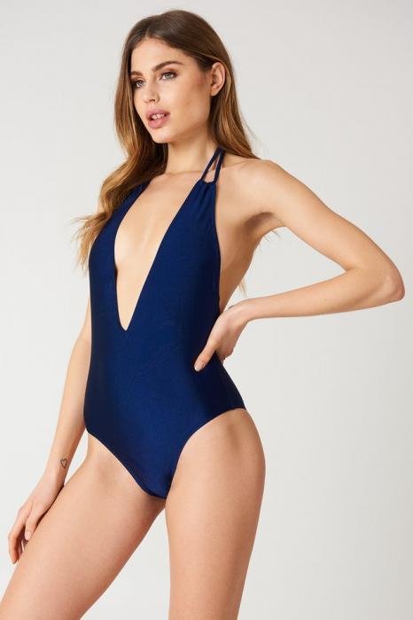 Halterneck Plunge Swimsuit 0