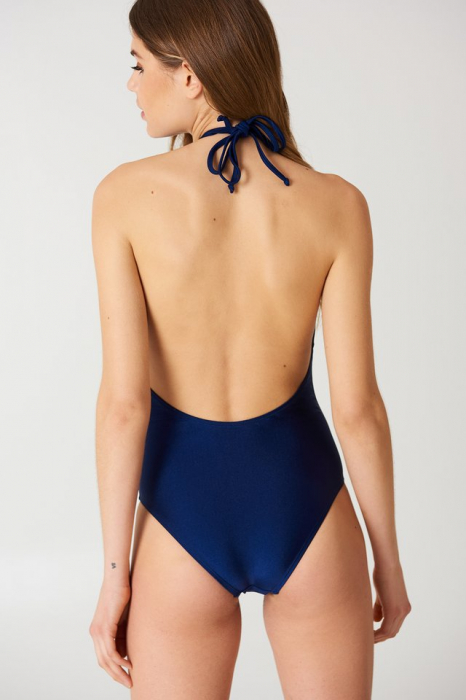 Halterneck Plunge Swimsuit 1