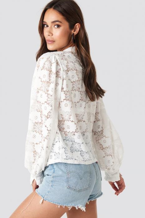 Bluza High Collar Flower Lace W [1]