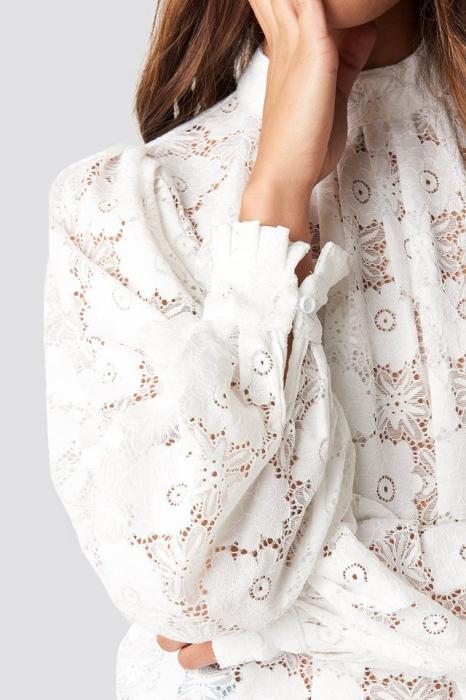 Bluza High Collar Flower Lace W [3]