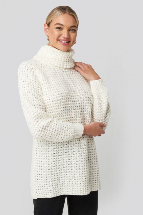Pulover High Neck Pineapple Knitted [0]