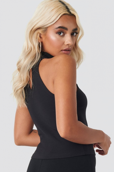 High Neck Ribbed Top [3]
