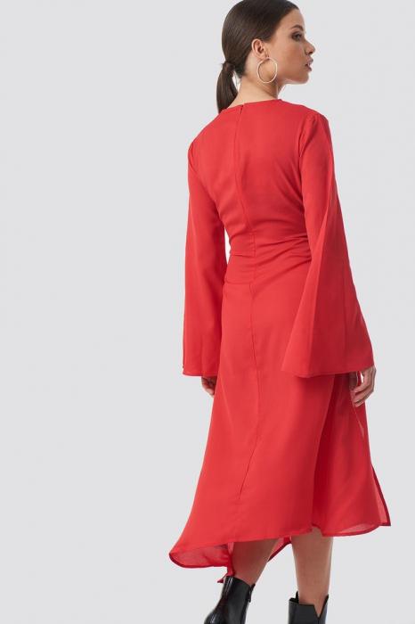 Rochie High Slit Asymmetric Midi Dress [1]