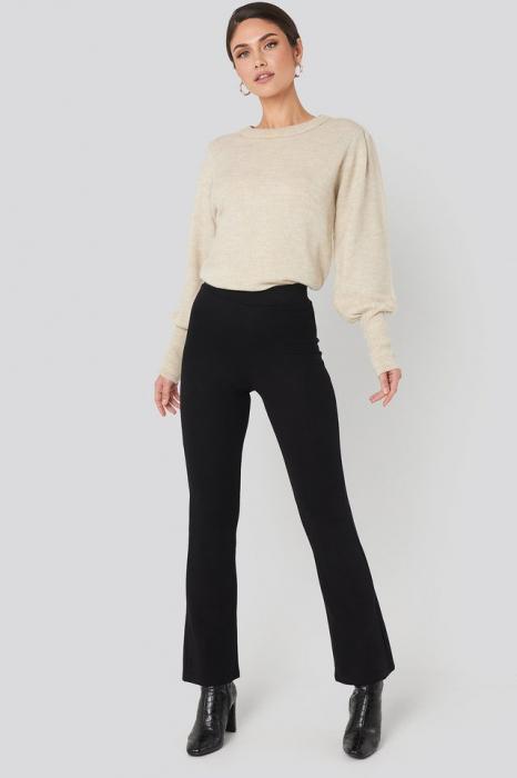 Pantaloni High Waist Flare Jersey [0]