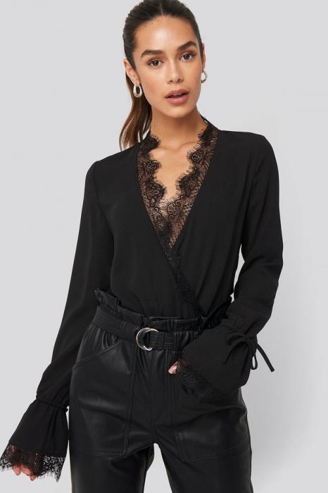 Overlap Lace Detail Bodysuit [2]
