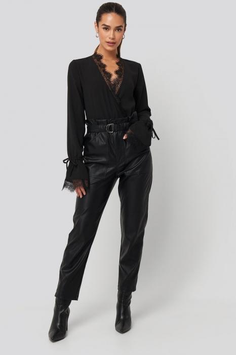 Overlap Lace Detail Bodysuit [3]