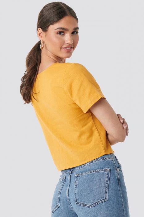 Top din in Linen Look Buttoned [1]