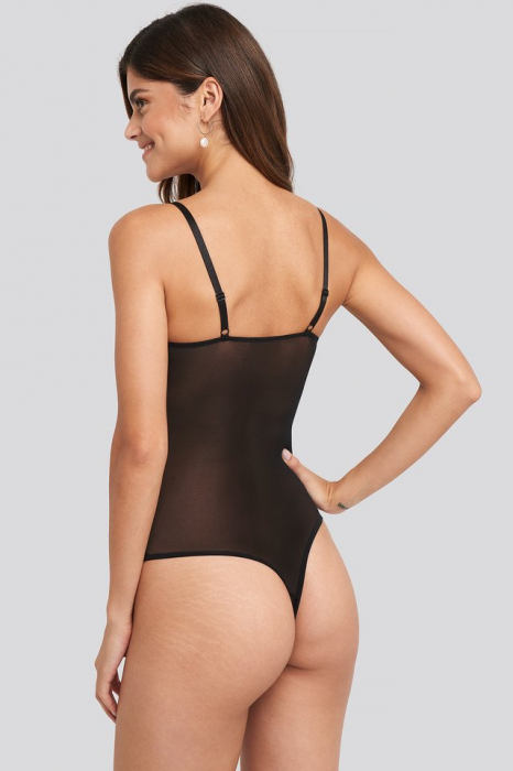 Thin Strap Mesh Bodysuit 1