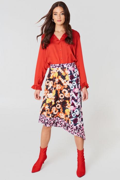 Fusta Multiprint Block Skirt 0