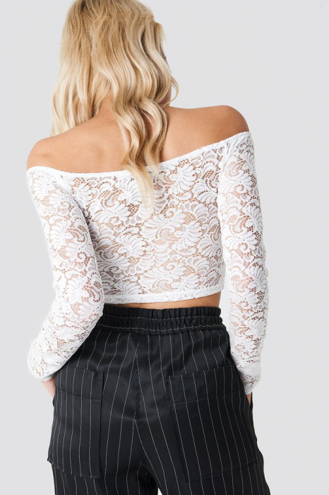Bluza Off Shoulder Lace Top 1