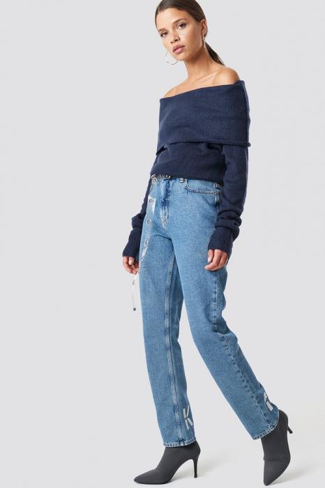 Pulover Offshoulder Folded Wide Sweater 2
