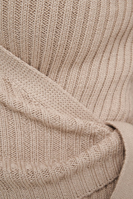 Pulover Overlap Ribbed Knitted 3