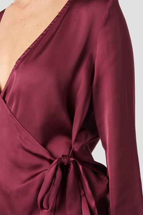 Bluza Overlap Side Tie Satin [3]