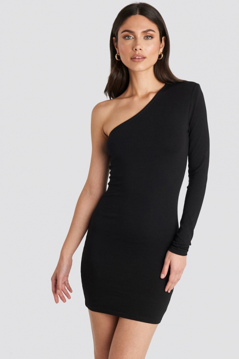 Padded One Shoulder Dress 0