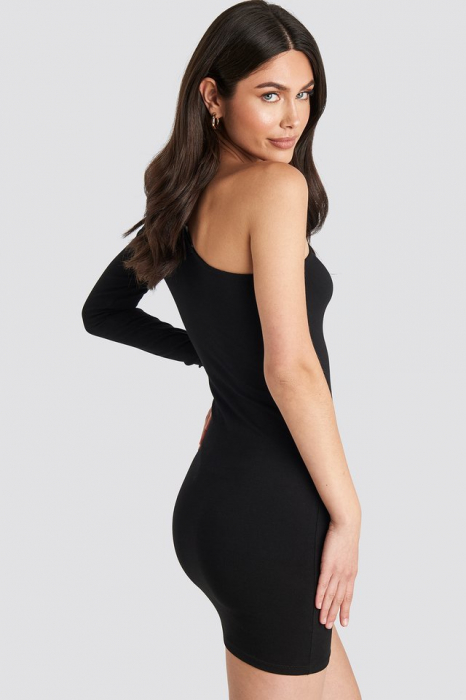 Padded One Shoulder Dress 1