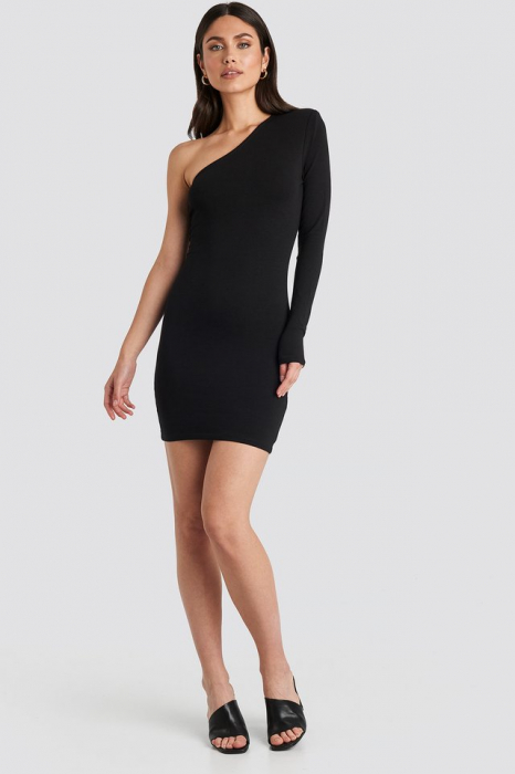 Padded One Shoulder Dress 2