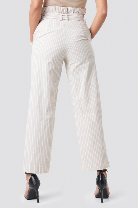 Pantaloni Paper Waist Striped [1]