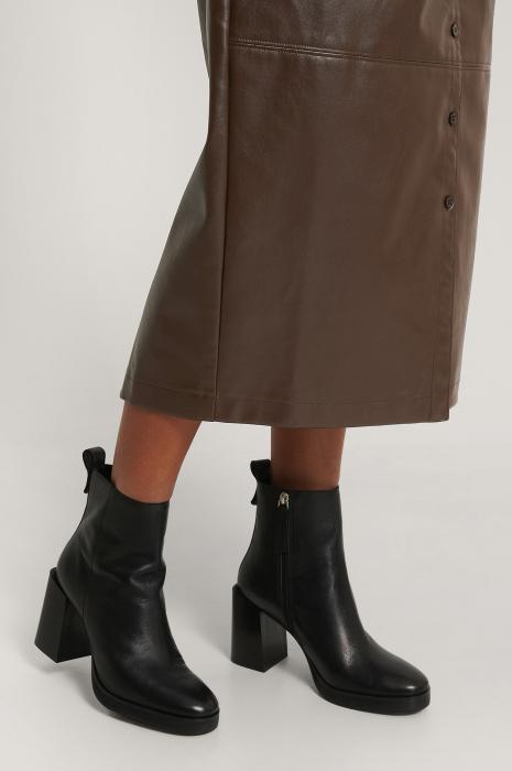 Botine Din Piele Naturala  Platform Leather [1]
