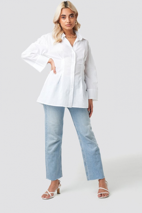 Camasa Pleat Detail Oversized Shirt 2