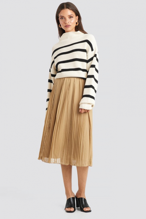 Fusta Pleated Midi Skirt 0