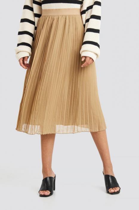 Fusta Pleated Midi Skirt 1