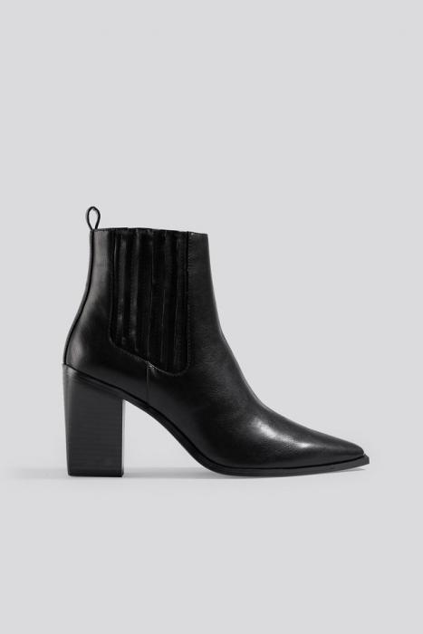Botine Pointy Block Heel Boots [0]