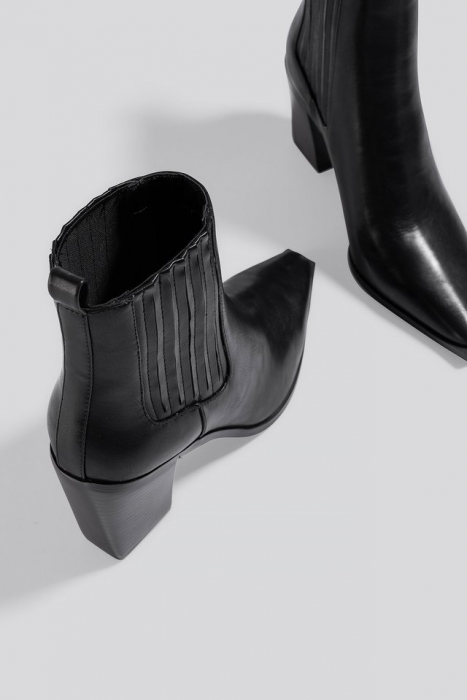 Botine Pointy Block Heel Boots [2]