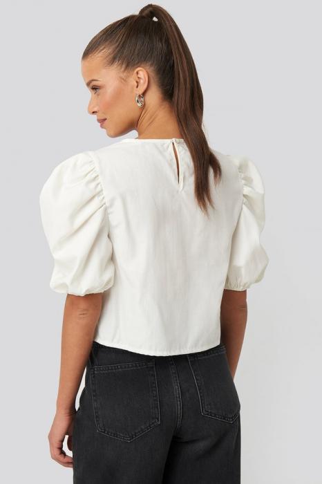 Top Puff Shoulder Short Sleeve 1