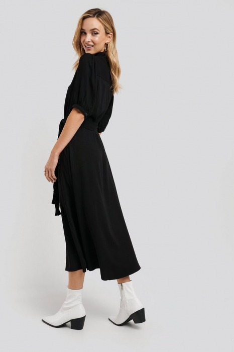 Rochie Puff Sleeve Belted Midi [1]
