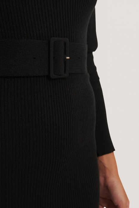 Rochie Puff Sleeve Knitted Dress [2]